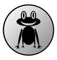 Frog button vector
