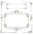 Vintage multilayer set frame vector