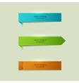 Modern bookmarks element design vector