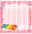A colorful xylophone with musical notes vector