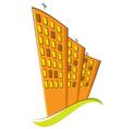 Group of residential buildings vector