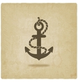 Anchor old background vector