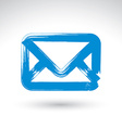 Hand drawn simple mail icon brush drawing vector