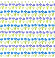Grunge pattern with small hand drawn flowers vector
