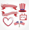 American flag stylized background vector