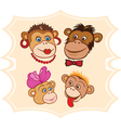 Monkey family vector