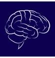 Symbol of the human brain vector