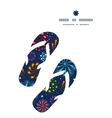 Holiday fireworks flip flops silhouettes pattern vector