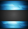Blue and black tech background vector