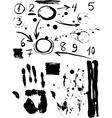 Figures sale handprint black sketch vintage poster vector