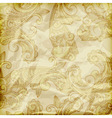 Seamless paisley pattern on crumpled golden foil vector