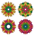 Set of four mandalas vector