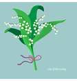 Flat design lily of the valley vector