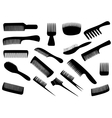 Hairdresser tools isolated on white vector