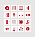 Icons media vector