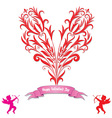 Heart love card valentine day background vector