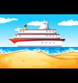 A ship at the beach vector