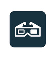 3d movie icon rounded squares button vector