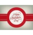 Valentines day vintage card eps 10 vector