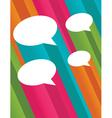 Colorful 3d speech bubbles vector