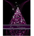 Christmas tree pink and silver vector