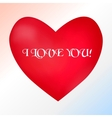 Postcard with a heart on a light background with a vector