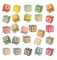 Alphabet blocks vector