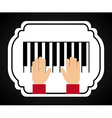 Piano design vector
