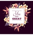 Floral vintage card with exotic flowers vector
