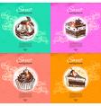 Set of vintage sweet backgrounds vector