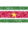 Flag of suriname with old texture vector