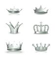 Silver crowns set vector