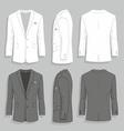 Men s suit vector
