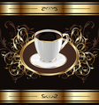 Vintage background for packing coffee coffee cup vector