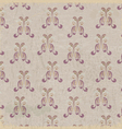 Abstract vintage background with floral elements vector