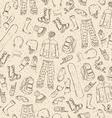 Seamless sketch pattern vector