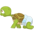 Funny turtle baby first step vector