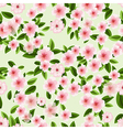 Seamless texture of blossom cherry vector