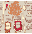 Food seamless doodles pattern vector
