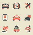 Travel black and red vector
