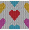 Knitted heart valentine day vector