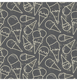 Grunge seamless pattern with ice cream cons on vector