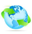 Icon planet earth arrow vector
