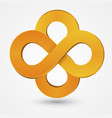 Abstract double infinity orange sign vector