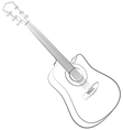 Acoustic guitar colorless vector
