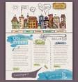 Website design template city vector
