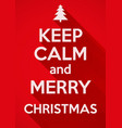 Keep calm and merry christmas background card or vector