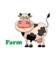 Cartoon farm cow vector