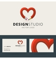 Logotype and business card template for design vector