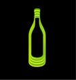 Abstract wine bottle vector